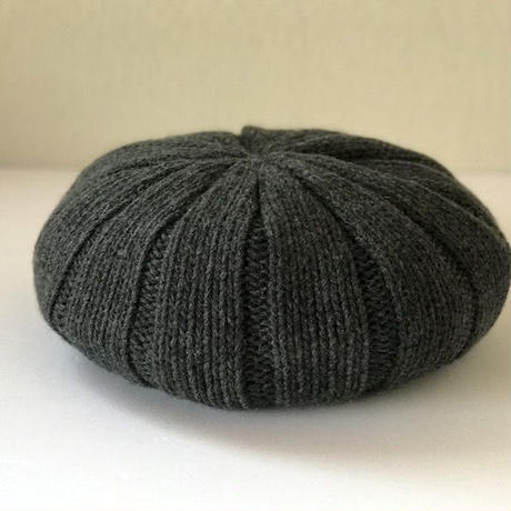 Pureカシミヤのニットベレー帽 Gray