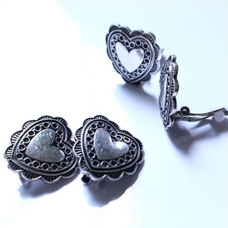 oldcolor Heart earring