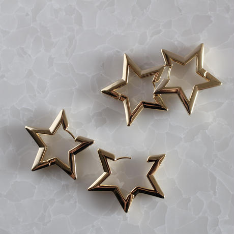 gold STAR hoop pierce