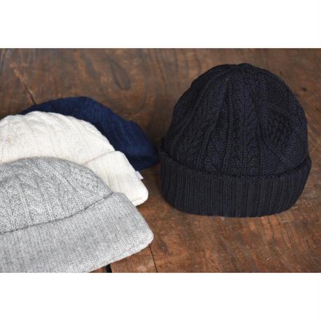 KIJIMA  TAKAYUKI / washable  wool  knit reversible  long beanie