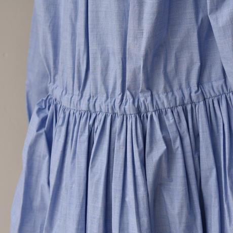 先染め check front open dress