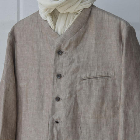 oldman's tailor CHAMBRAY STAND COLLAR JK