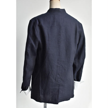 R&D.M.CO-/ CHAMBRAY  STAND COLLAR JK