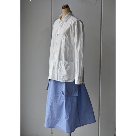 先染め check  Pocket skirt