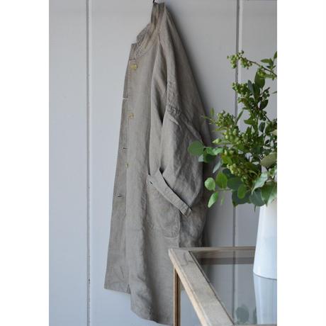 R&D.M.CO- linen denim over size coat