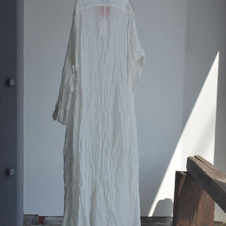 STEEL LINEN DRAPE LONG SHIRT