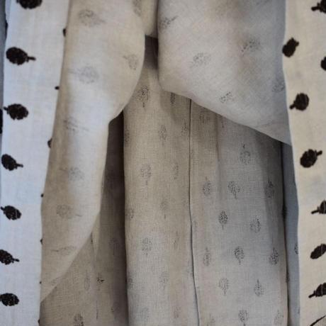 R&D.M.CO- artichoke flocking finish gather skirt