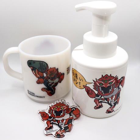 エルブレイブ×くまみねコラボ グッズセット(バブルガード+マグカップ+アクリルキーホルダー)