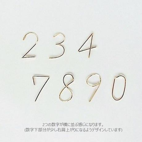 華やぎ数字(ナンバー)2ケタピアス
