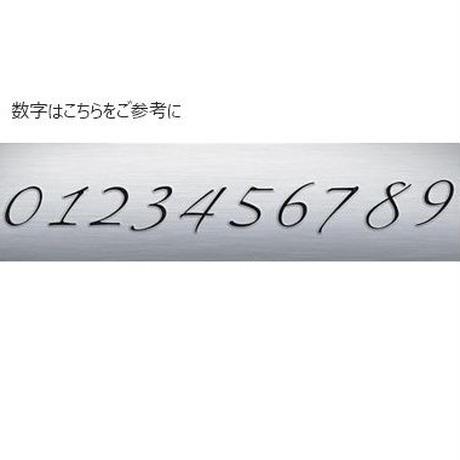 数字(ナンバー)2ケタプレートネックレス [シルバー925]