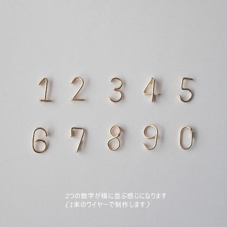 数字(ナンバー)2ケタラインブレスレット