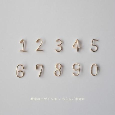 数字(ナンバー)スタッドピアス スクエアタイプ(片耳)