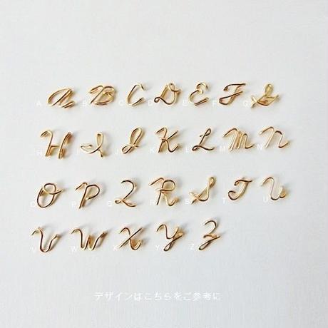 アルファベット × 数字(ナンバー) の綴りネックレス [筆記体] 5~8文字