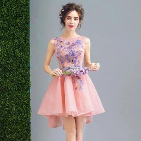 4e5ab857b27bd ウエディングドレス 前短後長 お姫様 パーティードレス 二次会 結婚式 披露宴 司会者 花嫁