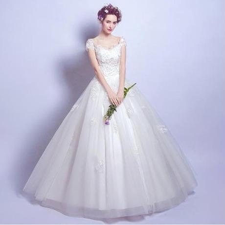 a4192ed66e448 ウエディングドレス 華やか オフショル 二次会 結婚式 披露宴 司会者 舞台衣装 花嫁 ...