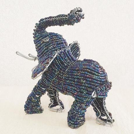 南アフリカの可愛いビーズアニマル(ゾウ、象)玉虫色