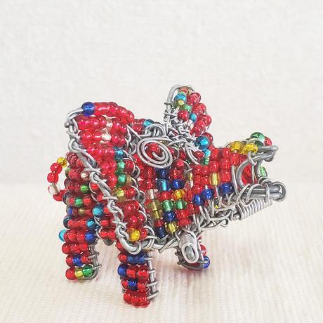南アフリカの小さなビーズアニマル(ゾウ、象)