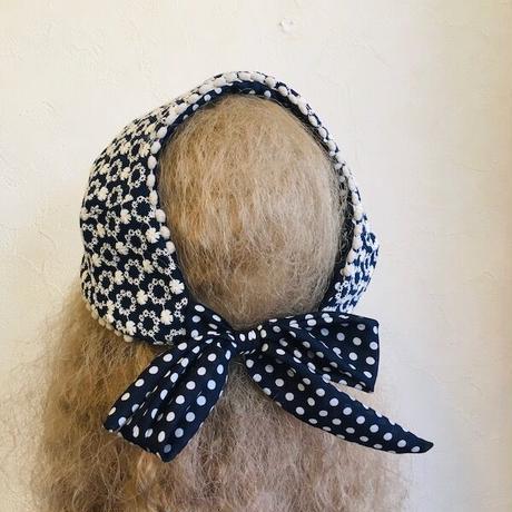 綿刺繍リスボンヘアバンド