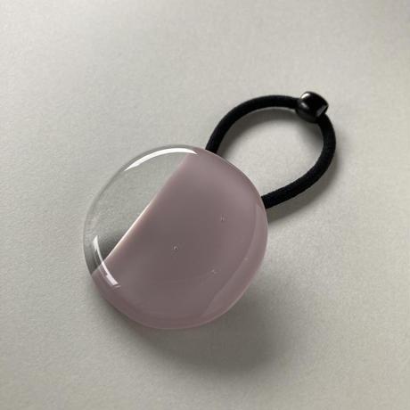 ヘアゴム 1/3clear グレーがかった薄紫