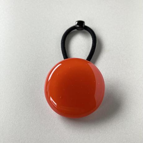 ヘアゴム まる 濃いオレンジ