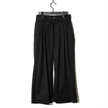 Waist Cord Wide Pants / BLACK 2902408