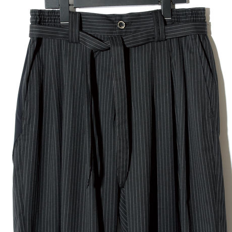 Waist Cord Wide Pants / BLACK STRIPE 2902408