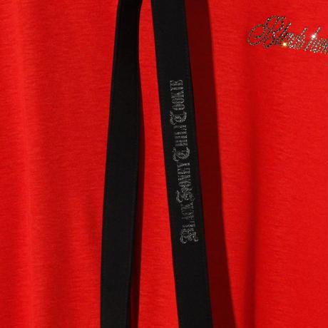 Swarovski Logo No Sleeve V Neck (w/TIE) / REDxBLACK 2905102