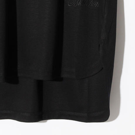 Swarovski Logo No Sleeve V Neck (w/TIE) / BLACKxBLACK 2905102