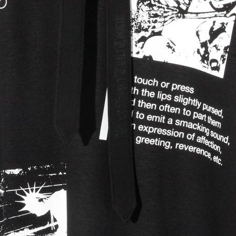Print No SleeveV Neck(w/TIE)  / BLACK 2905105