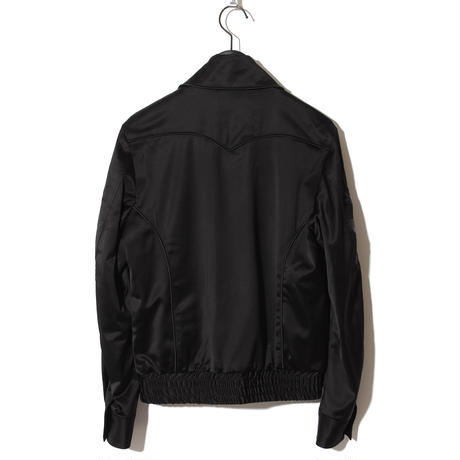 Rose Embroidery Satin Blouson / BLACK 2902311