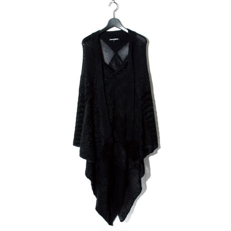 Knit Poncho / BLACK 2902502