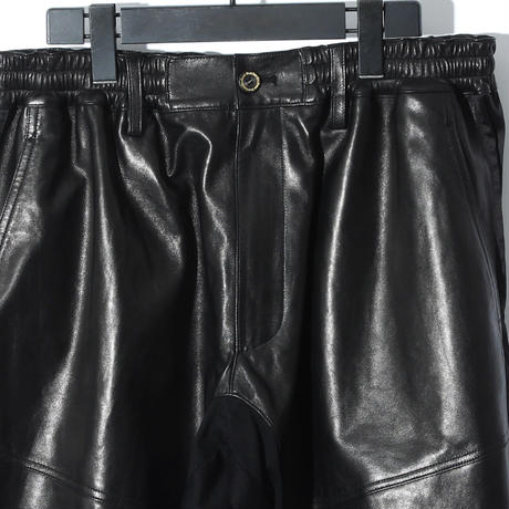 Sheep Leather Switching Pants / BLACK 2904903