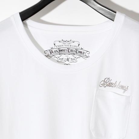 Swarovski Logo Pocket U Neck Tee  / WHITExCRYSTAL 2905103