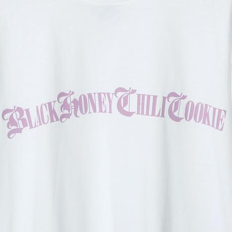 B.H.C.C Logo Print Tee / WHITExLAVENDER 2904501