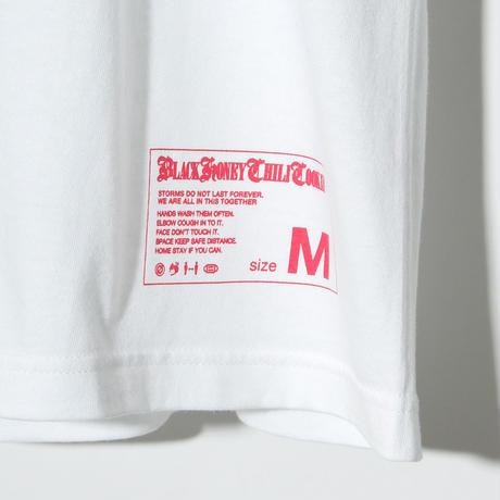 B.H.C.C Logo Print Tee / WHITExPINK 2904501