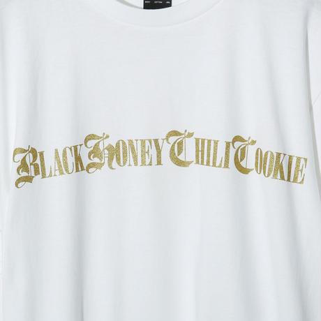 B.H.C.C Logo Print Tee / WHITExGOLD 2904501