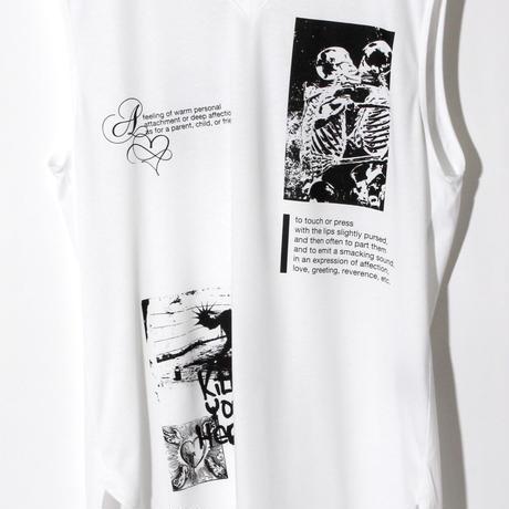 Print No SleeveV Neck(w/TIE)  / WHITE 2905105
