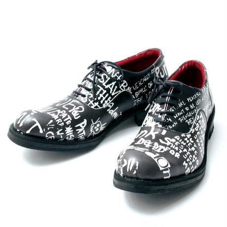Message Print Shoes / BLACK 2904604