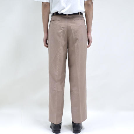 "2 tuck ""light"" wide pants / pink [P-0023]"
