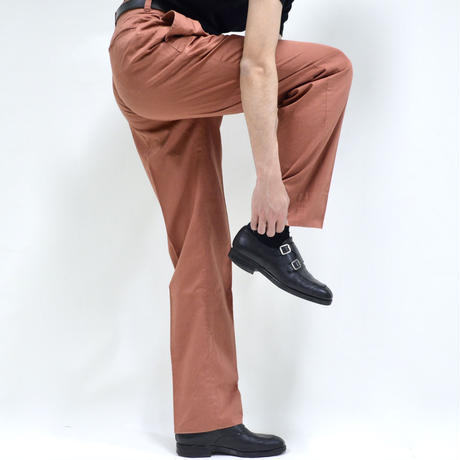 hight-waist design tapered pants / vermilion [P-0038]