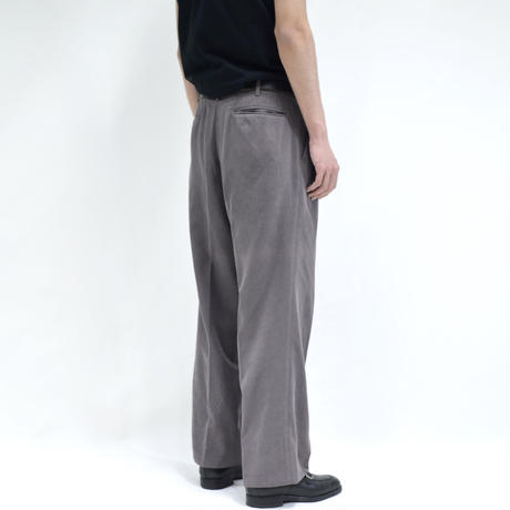 brushed-ish straight wide pants / purple [P-0036]
