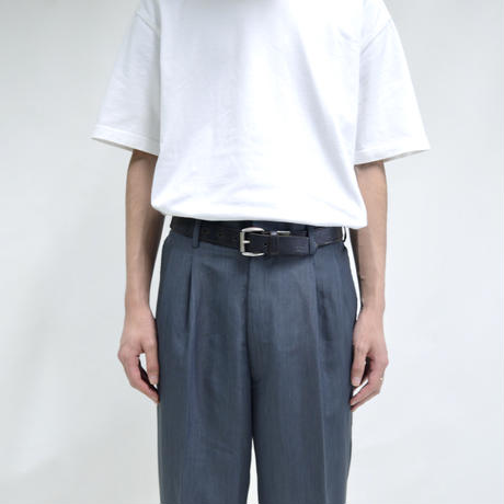 "2 tuck ""light"" wide pants / gray [P-0026]"