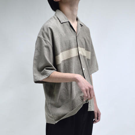 chest lined open-collared half-sleeve shirts [T-0055]