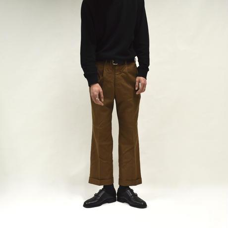 1-tuck coin pocket wide slacks / beige[P-0017]