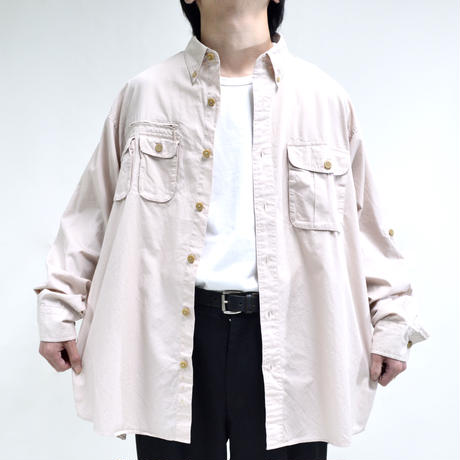 multi pocket design mesh shirts  [T-0064]