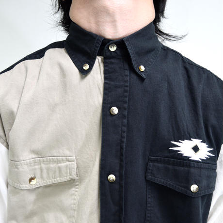 button-down switch embroidery shirts [T-0065]