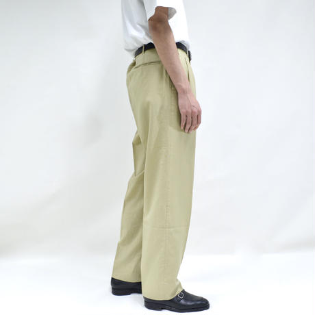 "2 tuck ""light"" wide pants / yellow [P-0024]"