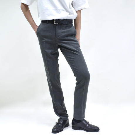 super slim straight pant / gray [P-0041]