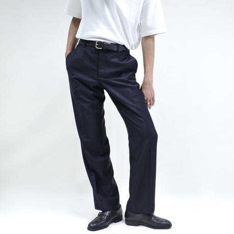 gloss design slim straight pants / black [P-0037]