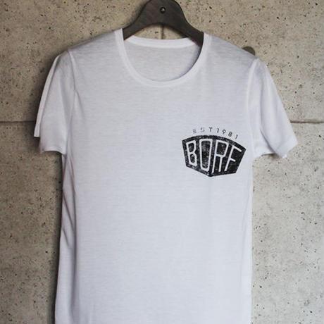 BLACKORDER ORDER-031 『BORF CRUE』T-shirts WHITE